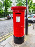Red mailbox in London, hdr Royalty Free Stock Photography