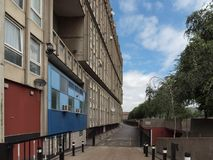 Robin Hood Gardens in London. LONDON, UK - CIRCA JUNE 2011: Robin Hood Gardens housing estate designed by Alison and Peter Smithson in late sixties, a Stock Images