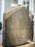 Rosetta stone at British Museum in London, hdr Royalty Free Stock Images