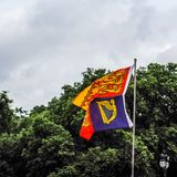 Royal Standards of the United Kingdom in London, hdr Royalty Free Stock Photos