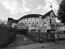 Globe Theatre in London black and white. LONDON, UK - CIRCA JUNE 2017: The Shakespeare Globe Theatre in black and white Royalty Free Stock Photo