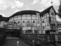 Globe Theatre in London black and white. LONDON, UK - CIRCA JUNE 2017: The Shakespeare Globe Theatre in black and white Stock Image