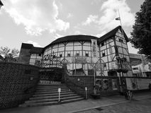 Globe Theatre in London black and white. LONDON, UK - CIRCA JUNE 2017: The Shakespeare Globe Theatre in black and white Stock Images