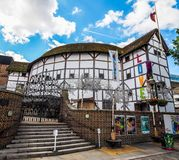 Globe Theatre in London (hdr). LONDON, UK - CIRCA JUNE 2017: The Shakespeare Globe Theatre (high dynamic range Stock Image