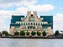 British Secret Service in London (hdr). LONDON, UK - CIRCA JUNE 2017: SIS MI6 headquarters of British Secret Intelligence Service at Vauxhall Cross London (high Stock Images