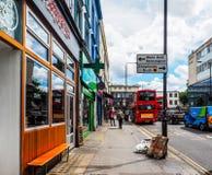 Street in London Notting Hill, hdr. LONDON, UK - CIRCA JUNE 2017: Street in Notting Hill, high dynamic range Stock Photos