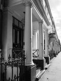 Terraced Houses in London black and white Stock Photography