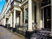 Terraced Houses in London, hdr Royalty Free Stock Photos