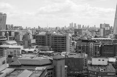 London city skyline black and white Stock Image