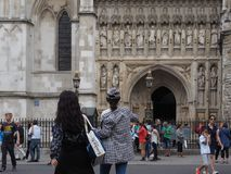 Westminster Abbey church in London stock photography