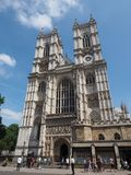 Westminster Abbey church in London stock photos