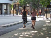 women jogging in London stock photo
