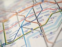 Map of London Underground Royalty Free Stock Photos