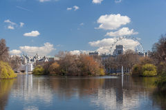 London, UK - circa March 2012: Hyde Park, Long Water and Serpentine in  London Royalty Free Stock Images