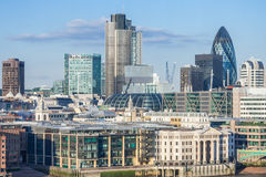 London, UK - circa March 2012: View of City of London from Tate  Modern Stock Photo