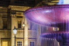 LONDON UK - CIRCA 2015: National Gallery på natten royaltyfri foto