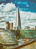 London, UK. City skyline along river Thames Royalty Free Stock Photo