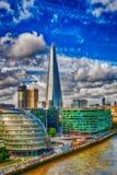 London, UK. City skyline along river Thames Royalty Free Stock Images