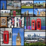London UK collage. London UK postcard - travel place landmark picture collage royalty free stock images