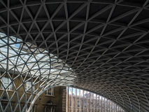 LONDON/UK - 24 DE FEBRERO: Reyes Cross Station en Londres en Febru Fotos de archivo