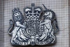 LONDON/UK - 21 DE MARÇO: Brasão da corte suprema do Fotos de Stock Royalty Free