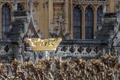 LONDON/UK - 21 DE MARÇO: Coroa nas terras das casas da paridade Foto de Stock Royalty Free