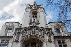 LONDON/UK - 21 DE MARÇO: Fachada da corte suprema do unido Imagem de Stock