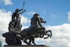 LONDON/UK - 21 DE MARÇO: Monumento a Boudicca em Londres o 2 de março Fotos de Stock