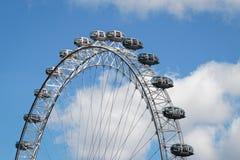 LONDON/UK - 21 DE MARÇO: Vista do olho de Londres em Londres em março Foto de Stock Royalty Free