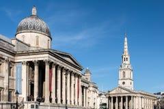 LONDON/UK - 7 DE MARZO: Vista del National Gallery en Londres encendido Fotografía de archivo libre de regalías