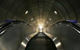 London, UK, 29 Dec 2018. Escalators at Southwark tube station. royalty free stock photo