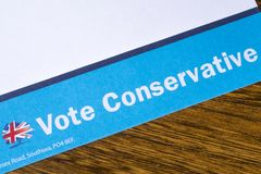 Vote Conservative Leaflet royalty free stock image