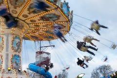 LONDON, UK - DECEMBER 9 : Carousel at Winter Wonderland Hyde Par Royalty Free Stock Images