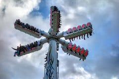 LONDON, UK - DECEMBER 9 : Carousel at Winter Wonderland Hyde Par Stock Photo