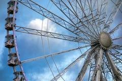 LONDON, UK - DECEMBER 9 : Ferris wheel at Winter Wonderland Hyde Royalty Free Stock Images