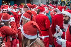 Santacon event in London royalty free stock photography