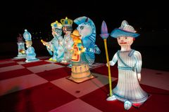 Alice in Wonderland lantern festival, Southwark Park, London UK stock photos