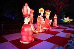 Alice in Wonderland lantern festival, Southwark Park, London UK royalty free stock image