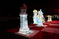 Alice in Wonderland lantern festival, Southwark Park, London UK stock images