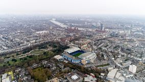 Stamford Bridge Home Stadium of Chelsea Football Club Aerial View. London, UK - DECEMBER 25 : Stamford Bridge Home Ground Stadium of Chelsea Football Club `The stock photos
