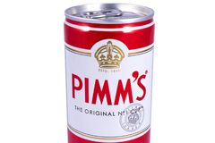 Can of Pimms royalty free stock image