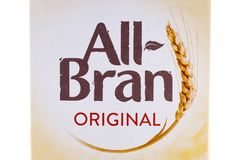 All Bran Original Cereal Stock Photo