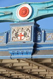 LONDON, UK: Detail of the architecture of the Tower Bridge Royalty Free Stock Photos