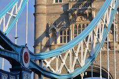 LONDON, UK: Detail of the architecture of the Tower Bridge Stock Photo