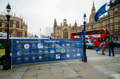 Anti-Brexit protesters outside Westminster in London, UK royalty free stock image