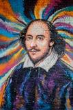 LONDON/UK - 13. FEBRUAR: Malerei von Shakespeare auf einer Wand in L Stockfoto