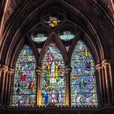 LONDON/UK - 24 FEBRUARI: Binnenlandse Mening van Southwark-Kathedraal i Stock Afbeelding
