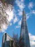 LONDON/UK - 24 FEBRUARI: Het Scherfgebouw in Londen op Februa Royalty-vrije Stock Afbeelding