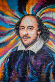 LONDON/UK - 13 FEBRUARI: Het schilderen van Shakespeare op een Muur in L Stock Foto