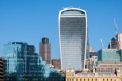 LONDON/UK - FEBRUARI 13: Hms-sikt av horisonten i London på F Royaltyfria Foton